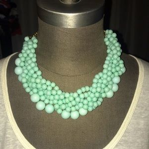 NEW Mint Green Beaded Statement Necklace